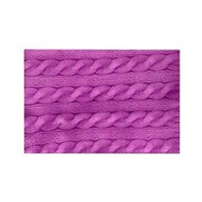 Cute Purple row Rectangle Magnet
