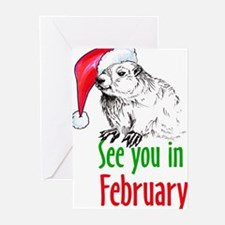 Cute Punxsutawney phil Greeting Cards (Pk of 20)