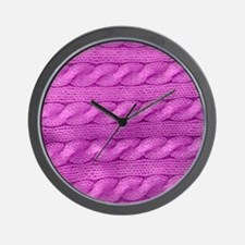 WOOL cable stitches Wall Clock