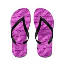 WOOL cable stitches Flip Flops