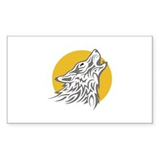 WOLF AGAINST MOON Decal