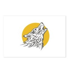 WOLF AGAINST MOON Postcards (Package of 8)