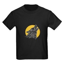 WOLF AGAINST MOON T-Shirt