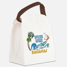 3D Palms Waves Sunset Spring Brea Canvas Lunch Bag