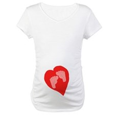 Baby feet in heart Shirt