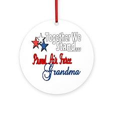 Air Force Grandma Ornament (Round)