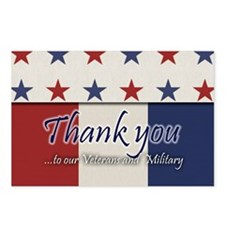 Thank You Veterans RWB Postcards (Package of 8)