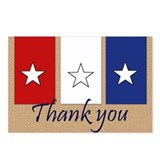 Patriotic thank you Postcards