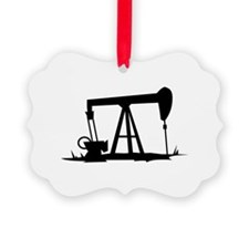 OIL WELL SILHOUETTE Ornament