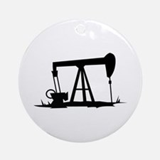 OIL WELL SILHOUETTE Ornament (Round)