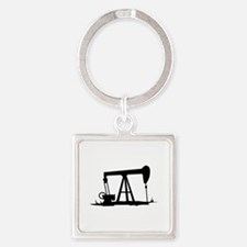 OIL WELL SILHOUETTE Keychains