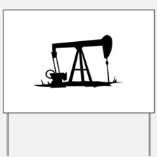 OIL WELL SILHOUETTE Yard Sign