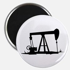 OIL WELL SILHOUETTE Magnets