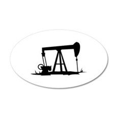 OIL WELL SILHOUETTE Wall Decal