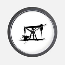 OIL WELL SILHOUETTE Wall Clock