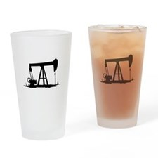 OIL WELL SILHOUETTE Drinking Glass