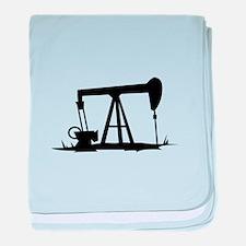 OIL WELL SILHOUETTE baby blanket