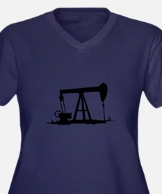 OIL WELL SILHOUETTE Plus Size T-Shirt