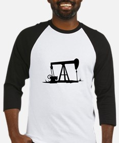 OIL WELL SILHOUETTE Baseball Jersey
