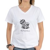 Cake queen Womens V-Neck T-shirts
