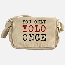 YOLO Once Messenger Bag