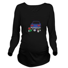 JUST MARRIED AUTOMOBILE Long Sleeve Maternity T-Sh
