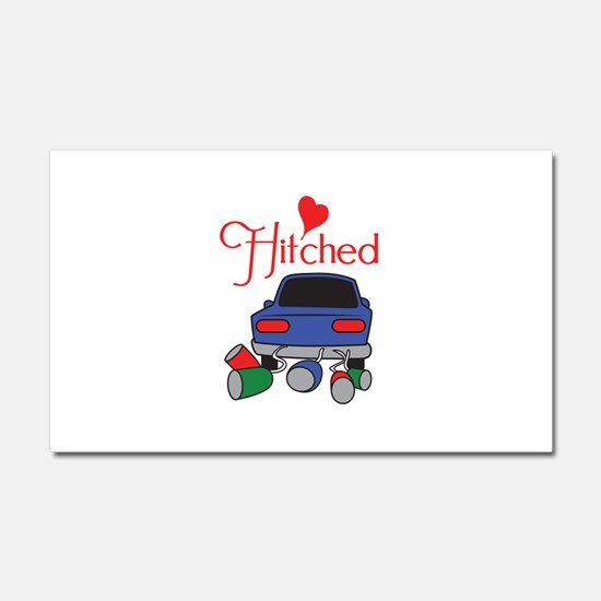 HITCHED Car Magnet 20 x 12