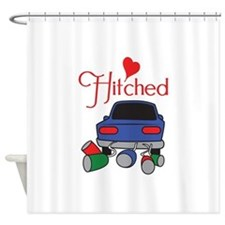 HITCHED Shower Curtain