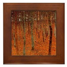 Gustav Klimt Art Framed Tile Beech Grove Forrest