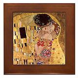 Klimt the kiss Framed Tiles