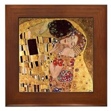 Gustav Klimt Art Framed Tile The Kiss