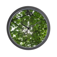 A Glimpse Through The Canopy Wall Clock