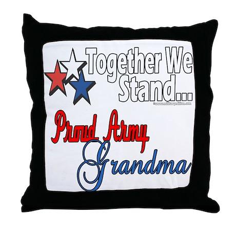 Army Grandma Throw Pillow