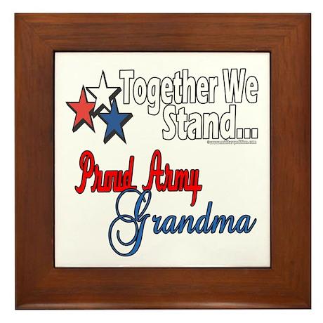 Army Grandma Framed Tile