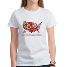 Love Defies Borders Women's T-Shirt