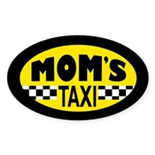 Mom's Taxi Sticker (oval)