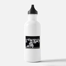 vintage laundry cat bl Water Bottle