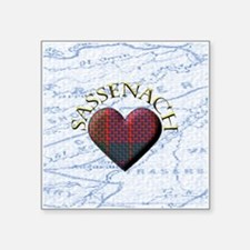 sassenach heart Sticker