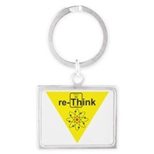 re-Think b Landscape Keychain