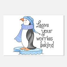 LEAVE YOUR WORRIES BEHIND Postcards (Package of 8)