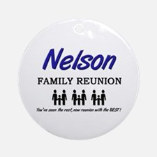 Nelson Family Reunion Ornament (Round)