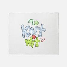 KNIT WIT Throw Blanket
