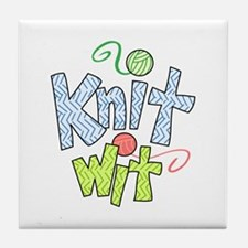 KNIT WIT Tile Coaster