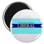 True Blue Kansas LIBERAL Magnet