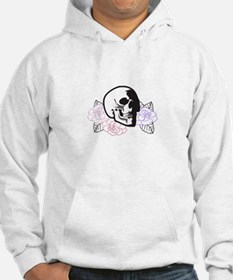 SKULL APPLIQUE WITH ROSES Hoodie