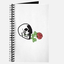 SKULL APPLIQUE WITH ROSE Journal
