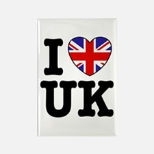 I Love UK Rectangle Magnet