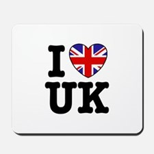 I Love UK Mousepad