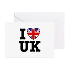 I Love UK Greeting Cards (Pk of 10)