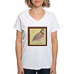 Bobwhite Framed Women's V-Neck T-Shirt